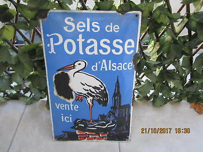 Plaque Emaillee Ancienne Bombee Potasse D'alsace Ed Jean
