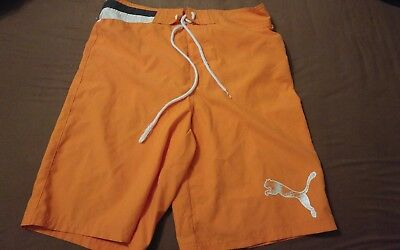 Original Puma Herren Badehose Gr. 44/48 orange