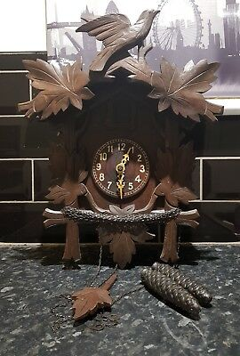 Antique Genuine authentic  Black Forest Cuckoo clock.