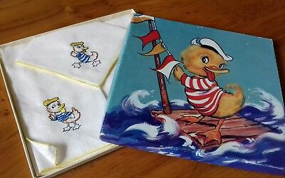 Vintage Boxed Childrens Hankies Handkerchiefs