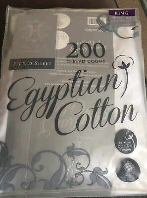 Egyptian Cotton Fitted Sheet King Size White