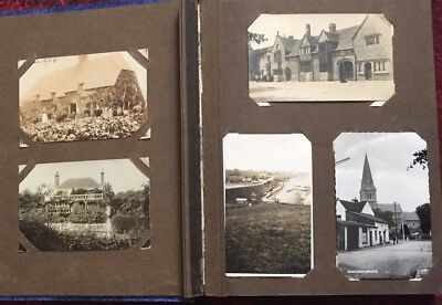 124 Old Postcards, UK Topographical in Old Album, RP & Printed 1900's-1960's