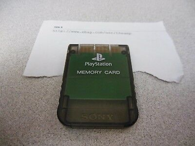 *Official* Clear Smoke Black Playstation 1 Memory Card for PSX US/Japan Original