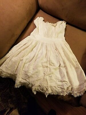 Antique Vintage Baby Infant Christening Baptism Gown With BEAUTIFUL HANDWORK.