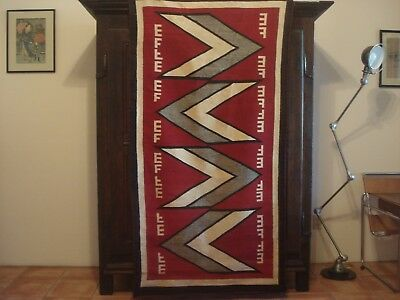 Large Antique Navajo Ganado Rug, Big, Bold and Confident, Very good condition