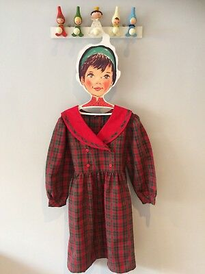 Girls Vintage Tartan Dress Age 6 Immaculate Condition