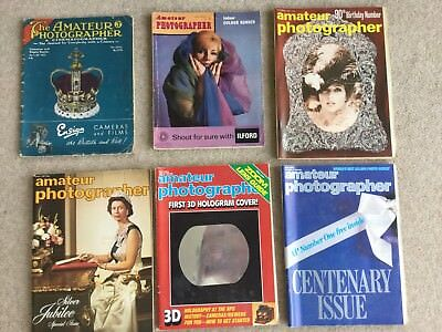 Collection Of 6 Amateur Photographer Magazines 1937-1984