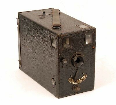 Vintage French Detective Style Box Camera with Falling Plate System