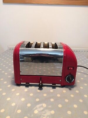 Dualit 4SL GB 4 Slice Toaster. Red & Stainless.99p Auction