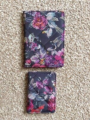 Paperchase Rose Print Quilted Passport Holder And Ticket/ID Pass Holder