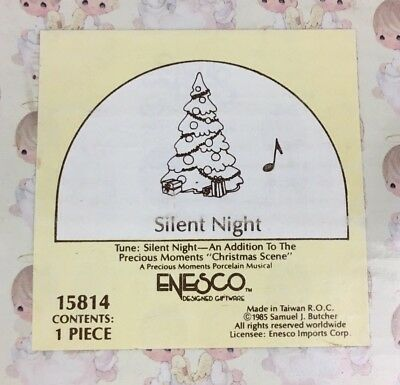 Precious Moments Figurine 15814 Silent Night - NIB - NEW!
