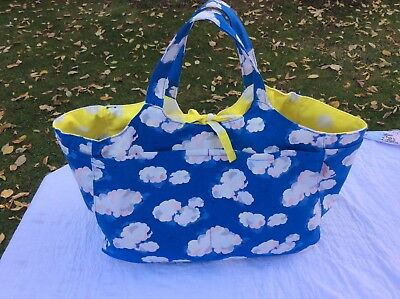 Cath Kidston Clouds craft bag for knitting sewing or crochet.