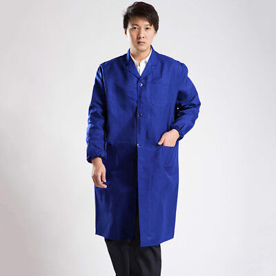 Hot Unisex Long Working Coat Anti-Dust Outwear Quick-Dry Safety Uniform Clothes
