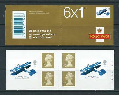 2003 Pm11 Booklet With 6 X Self Adhesive Machins & Toys Stamps Cylinder D1