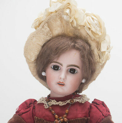 "18"" (46cm) Antique French Jumeau Bebe Doll w/ open mouth, original dress, size 6"