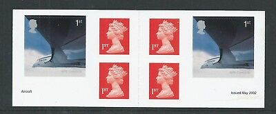 2002 Pm5 Booklet  6 X Self Adhesive Machins & Jet Aviation Stamps Complete