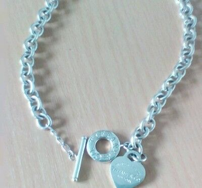 Tiffany & Co 'Return To Sender' Heart & Toggle Necklace.
