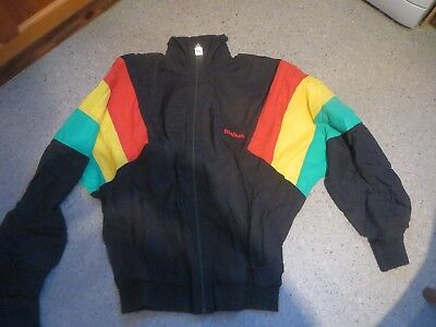 """Vintage 80's/90's  Shell Suit - Mike Walker wear black/red/yellow/green  38"""""""