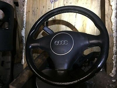 Audi A3 8P MK2 Black Leather Sports Steering Wheel with Air Bag
