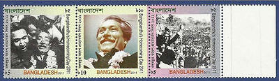 Bangladesh Mnh 2011 Homecoming Day Sheikh Mujib Famous Person