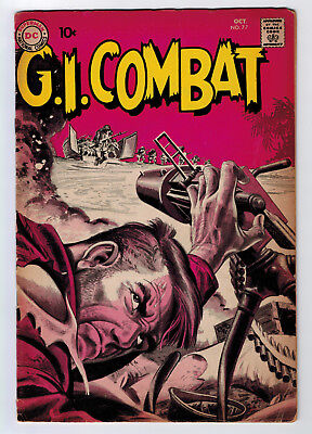 Gi Combat #77 4.0 Grey Tone/wash Cover 1959 Cream/off-White Pages