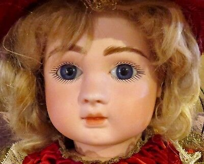 "Antique 21.5"" French Bisque Closed Mouth Fre A 13 Steiner Doll on Original Body"