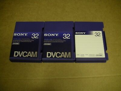 Packs of 3 Sony Professional AME 32min DV cam Tapes, .