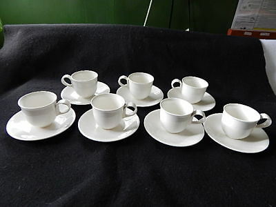 "7 Eva Zeisel Hallcraft ""Tomorrows Classic"" Demitasse Cups & Saucers"