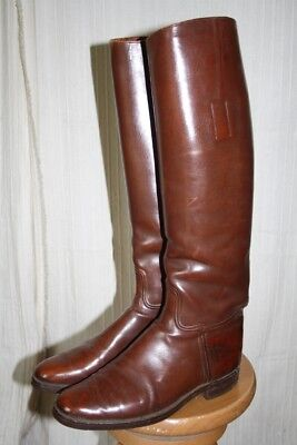 Old Cavalry Tan Riding Boots for Fort Benning Size 9 1/2 nice collector's item !
