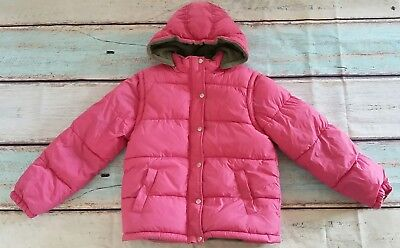 MINI BODEN Girls Pink Padded Coat /Gilet. Removable Sleeves & Hood. Age 13-14