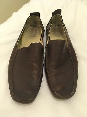 Men's Brown Leather Loafers Size 11
