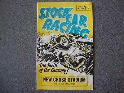 "Facsimile 1960's Stockcar Programme At New Cross 16/4/1954 ""first Ever  Meeting"