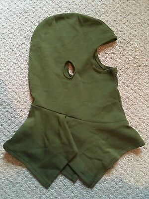 Green balaclava military surplus