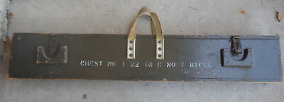 Original 303 Lee Enfield Wooden Transfer Case Dated 1944 Canadian