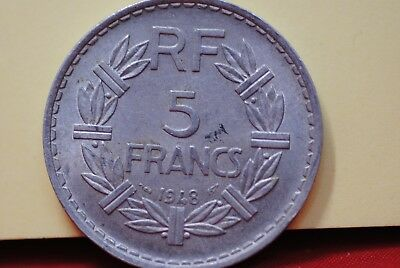 1948 France 5 Franc Open 9 variety in extra fine