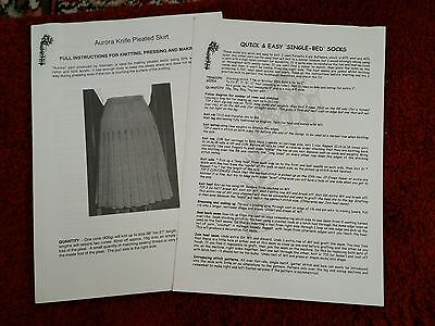2 machine knitting patterns. please see description and photos