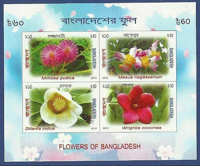 Bangladesh Mnh Ss 2013 Flowers Flower Of Bangladesh