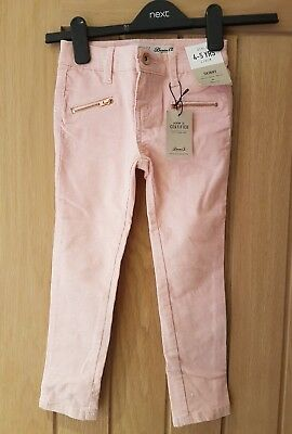 girls sparkly pink skinny trousers from denim co age 4 - 5 years bnwt