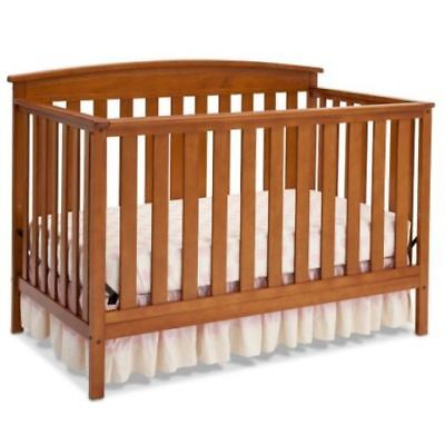 Crib 4-in-1 Convertible Baby Toddler Daybed Full Size Bed Headboard Up To 50lbs