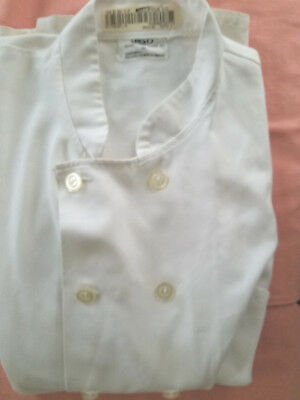 Chef Culinary Jacket White Button Down Size 54 Chest 100% Poly White by Best
