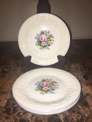 TABLETOPS UNLIMITED ~ (4) Salad Plates ~ VICTORIAN ROSE