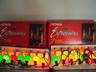 Two Sets Of Noma Expressions Bubble Lights  7 Lite Sets     Tested  Lot 3