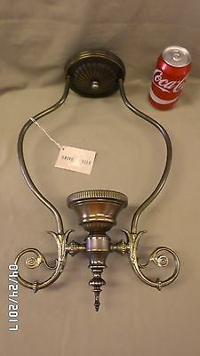 "2054M Vtg NEW Ceiling Chandelier Fixture Antq Brass 17"" Tall BRITE LITE BROOKLYN"