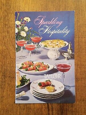 Vintage 1965 Taylor Wine Company Sparkling Hospitality Drink Recipe Guide