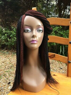 Handmade Braided Wig/Micro Braids Wig/Afro Braided Wig/Colour 1&35. 25 inches.
