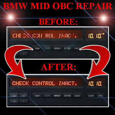 BMW E31 8-Series 840i 850i OBC MID RADIO STEREO LCD Screen Display Pixel REPAIR