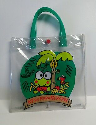 "Sanrio KEROPPI Plastic Clear Bag & Small Bird 1988/1992 Free Shipping 9"" X 9"""