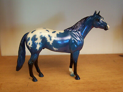 Breyer Web Glossy Blue Decorator Fantasy Calvin Appaloosa Quarter Horse 712237