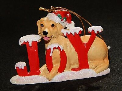YELLOW LAB LABRADOR RETRIEVER CHRISTMAS SANTA DOG ORNAMENT NEW Kurt Alder