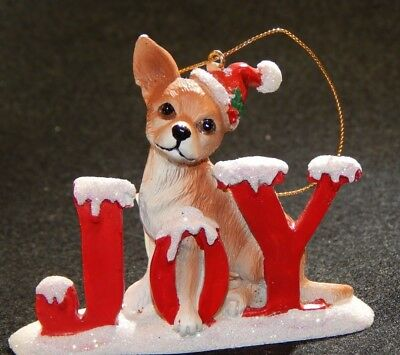 BOXER DOG PUP CHRISTMAS SANTA JOY DOG ORNAMENT NEW Kurt Alder